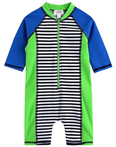 [Livraison gratuite] Vaenait bébé 0–24 m bébé garçon des manches longues One Piece Maillot de bain pour bébé Vert pomme - Vert - petit