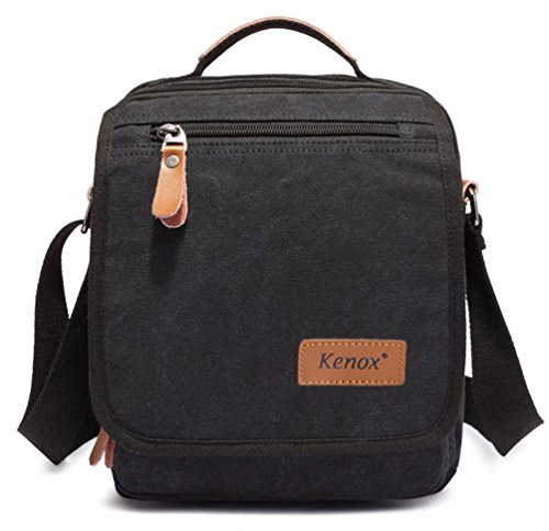 Kenox Durable Vintage Multifunction Canvas Shoulder Bag Business Messenger Bag Ipad Bag Tote Bag Satchel Bag