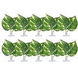 Nannday 【𝐑𝐞𝐠𝐚𝐥𝐨 𝐝𝐞 𝐍𝐚𝒗𝐢𝐝𝐚𝐝】 Hamaca Artificial Hoja de Planta, Hamaca de Hoja Artificial de Cemento plástico, Acuario para Planta de Reptil Almohadilla de Hoja Cama Pecera