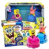 Spongebob Squarepants Jellyfish Toy Racers ~ 2 Pack Spongebob & Patrick Pull Back Jellyfish Racer Cars with Spongebob Coloring, Stickers, and More (Spongebob Character Cars)