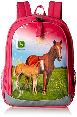 John Deere Mochila para niñas, Pink (Rosa) - JFL814PC