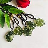 Collana di meteoriti energetici con pendente in pietra di cristallo aerolite di Moldavite verde naturale (1pc)
