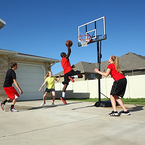 Lifetime 51544 Front Court Portable Basketball System, 50 Inch Shatterproof Backboard