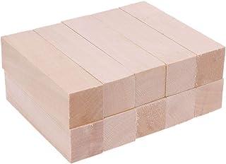 Artibetter Juego de 10 bloques para tallar madera de tilo, bloques de madera sin terminar para tallar madera para adultos,...