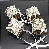 YANGDONG-Dekorative Ornamente- Weihnachtsdekorationen Ornamente, 4 stücke Rustikale Serviette Ringe Spitze Mesh Servietten Ringhalter Schnalle Für Hochzeit Weihnachten Bankett Party Decor DGZSZSPBJ-3