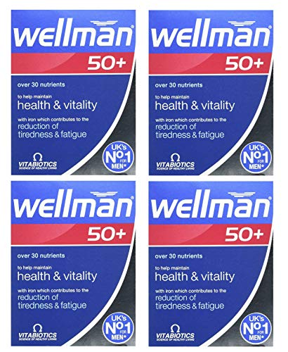 Vitabiotics | Wellman 50+ Tablets | 4 x 30s