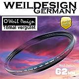 Polfilter POL 62 mm Circular Slim XMC Digital Weil Design Germany * Kräftigere Farben *...