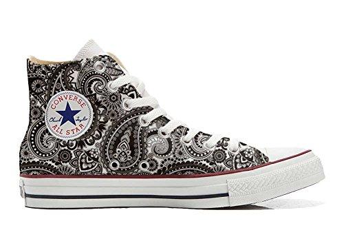 Unbekannt Sneaker & Sportschuhe USA - Base Print Vintage 1200dpi - Italian Style - Hi Customized personalisierte Schuhe (Handwerk Schuhe) Elegant Paisley Size 42 EU