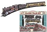 KandyToys TY2-7209 - Treno giocattolo elettrico classico retrò con binari