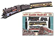 KandyToys Classic Retro Electric Large Toy Train With Tracks   Battery Operated