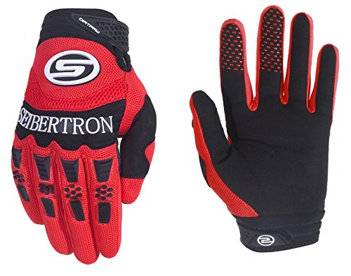 Seibertron Herren Handschuhe Dirtpaw Race Fahrrad Handschuhe sporthandschuhe für Radsport MTB Mountainbike Outdoor Sport Bike Gloves (Red, S)