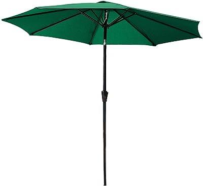 Keinode Sombrilla de jardín 2, 7 m para Colgar en el jardín, Patio, Paraguas Octogonal de Lujo para jardín, Hotel, Mercado, Piscina, Playa, al Aire Libre, Verde: Amazon.es: Jardín