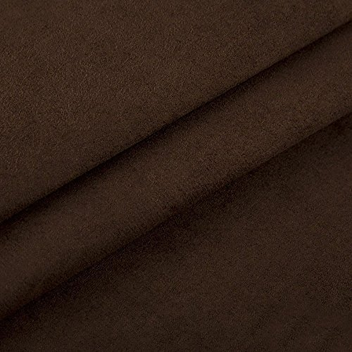 Edge Nubuk Meterware Microfaser Velours Wildleder Möbelstoff Polsterstoff (26 Braun)