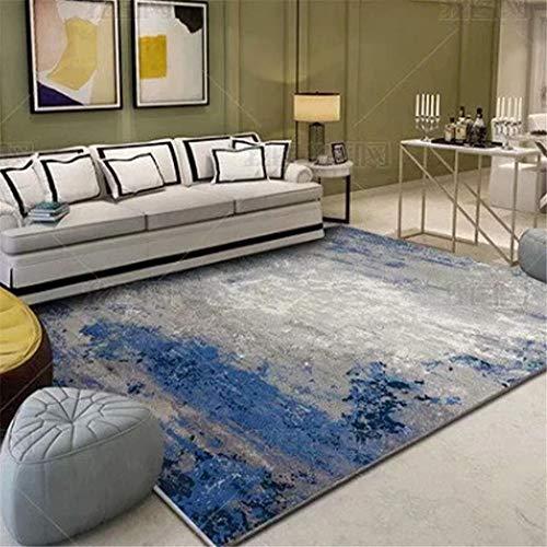 Xiaosua Alfombra Azul Sala de Estar Alfombra Azul borroso Vintage patrón Suave Alfombra Duradera alfombras para Salon 160x200cm alfombras pie de Cama 5ft 3''X6ft 6.7''