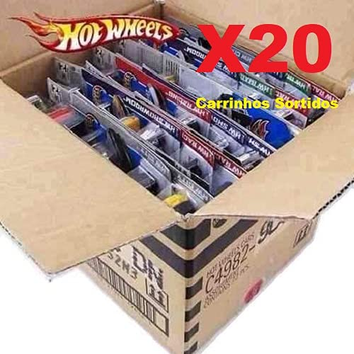 Hot Wheels Caixa C/ 20 Carrinhos Sortidos - Mattel - GMLD001