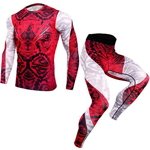 Oukeep Pantalones De Fitness para Hombres Europeos Y Americanos Costura De Impresión Deportes Entrenamiento para Correr Mecha Pantalones Ajustados Elásticos Altos De Secado Rápido Buceo Montar
