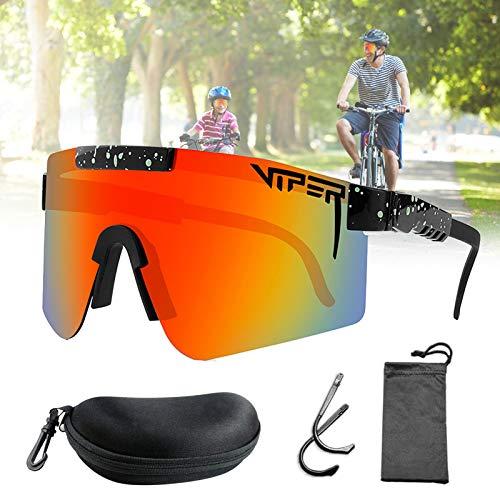 CWWHY Sport Sonnenbrille, Original Sonnenbrille, Outdoor Sportbrille, Winddichte Fahrrad Sonnenbrille, Tr90 Rahmen UV400 Augenschutz, Für Frauen Männer,C06