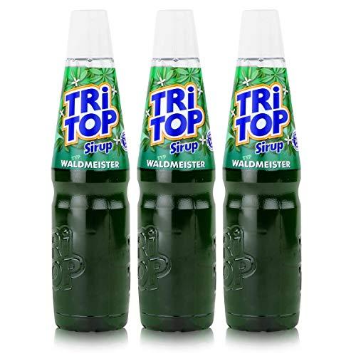 Tri Top Getränke-Sirup Waldmeister 600ml - wenig Zucker - kalorienarm (3er Pack)