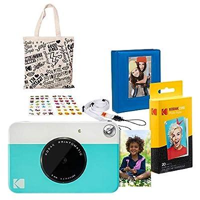 Kodak PRINTOMATIC Instant Print Camera (Blue) Gift Bundle by Kodak
