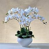 Artificiale piantina Finta con Vaso Fiori Artificiali Dell'orchidea In Vaso Pianta Finta Con Pentola Phalaenopsis Bonsai Per Soggiorno Centerpieces Disposizioni Decorazione Artificiali Bonsai Arredame
