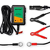 HOYOA 12v 750mA Trickle Battery Charger Maintain Charger Lead Acid Gel/AGM for Car Automotive Motorcycles and Lawn Mower