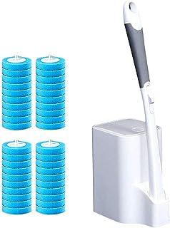 JXYNB Cepillo de Inodoro desechable de Mango Largo, Herramienta de cepillos limpios curvados del Lado del baño, Viene con ...