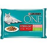 Purina ONEcomida húmeda para gato esterilizados filetes en salsa con variedad...