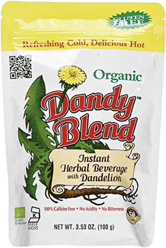 50 Cup Bag of Certified Organic Dandy Blend Instant Herbal Beverage with Dandelion, 3.53 oz. (100g) Bag