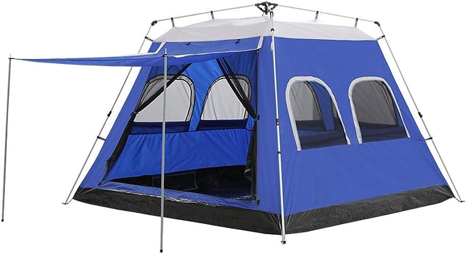 Dyl Grande Tente de Camping imperméable instantanée de Tente hydraulique de Grande capacité 5-8 Personnes, 2 Couleurs