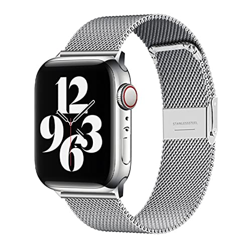 Milanés Acero Inoxidable Metal Para Apple Watch Watch Watch Band 38mm 40mm 4mm 4mm Banda Correa Para Iwatch Pulsera Series