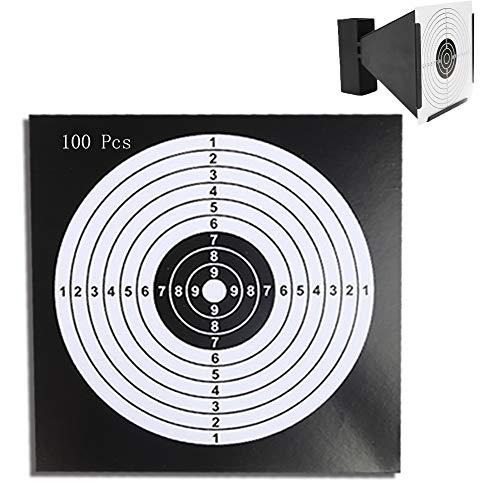 Snowtian Caja con 100 Dianas Objetivo de Flecha Tiro a La Diana Flechas Disparadas Objetivo 14 cm Disparos para Zona de Juegos, Práctica de Tiro al Blanco