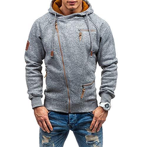 Vardagliga långärmade huvtröjor för män hel dragkedja sammet sweatshirt M-3XL