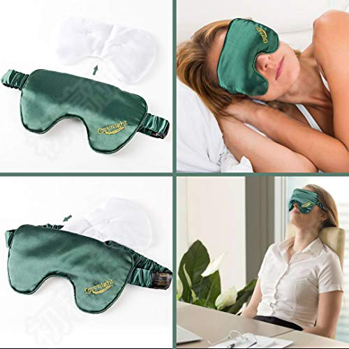 Cozynight Silk Weighted Sleep Mask, Sleep Mask for Women Man, Sleep Eye Mask for Sleeping, Travel, Nap, Meditation, Relieve Puffy Eyes,Deep Rest with Adjustable Strap