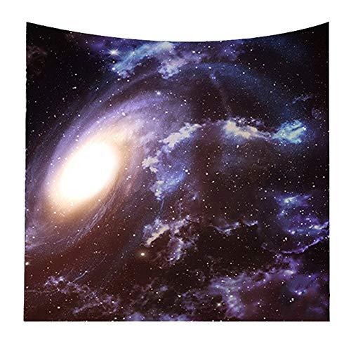Sannysis Tapiz Estrellado Cielo Pared Tapiz Yoga Toalla de Playa Colcha Home De, 100% algodón, 7, Small