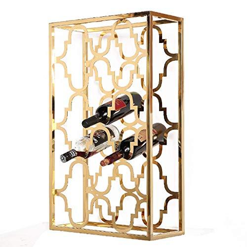 JUNYYANG Vino del estante del sostenedor del vino del vino del metal estante de exhibición del Interior de la casa vino de almacenamiento de cajas anticorrosión antioxidante de vino del gabinete de se