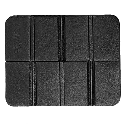 Liadance Picnic Seat Mat Folding Seat Cushion Camping Pad Outdoor Floor Mat Moisture Proof for Picnic Hiking Camping Black