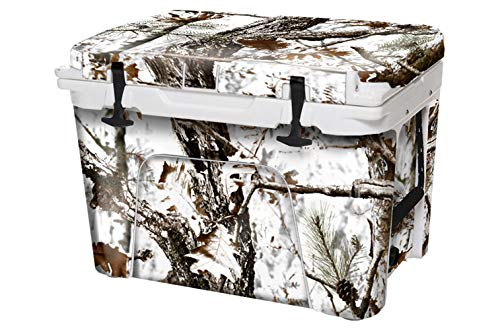 USATuff Custom Wrap (Cooler not Included) for Yeti Coolers – Tough Thick and Durable Weatherproof Vinyl Accessories – Outdoor Collection (Tundra Camo, Fits Yeti 50qt)