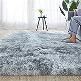 Soft Indoor Modern 5.3x6.6 Area Rugs Warm Soft Rug for Bedroom Decor Living Room Kitchen Non-Slip Plush Fluffy Comfy Babys Care Crawling Carpet Grey