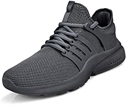 Feetmat Women's Running Shoes Non Slip Lightweight Breathable Mesh Sneakers Sports Athletic Walking Work Slip Resistant Shoes Grey 9 M