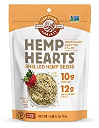 Manitoba Harvest Hemp Hearts Raw Shelled Hemp Seeds, 1lb; with 10g Protein & 12g Omegas per Serving,