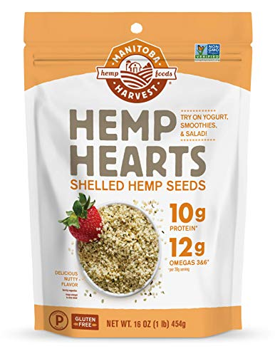 Manitoba Harvest Hemp Hearts Raw Shelled Hemp Seeds, natural flavor, 1