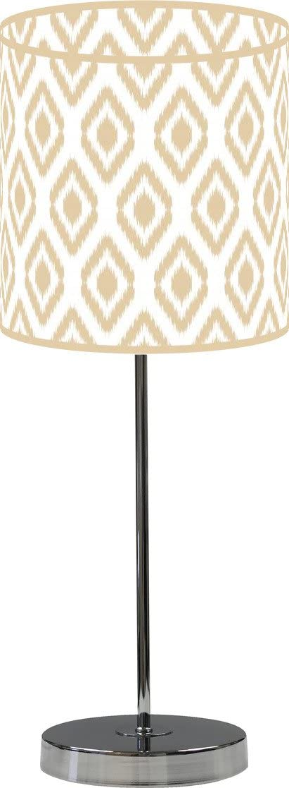 LampPix 10 Inch Table Desk Lamp Decor Ikat Includes Shade Max 76% OFF Beige. Recommendation