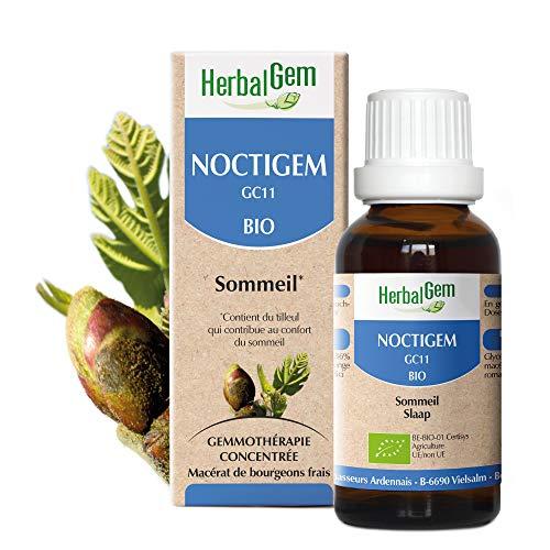 HerbalGem - Noctigem Bio - Procure un repos nocturne bon et sain - Complexes de Gemmothérapie Concentrée - 30 ml