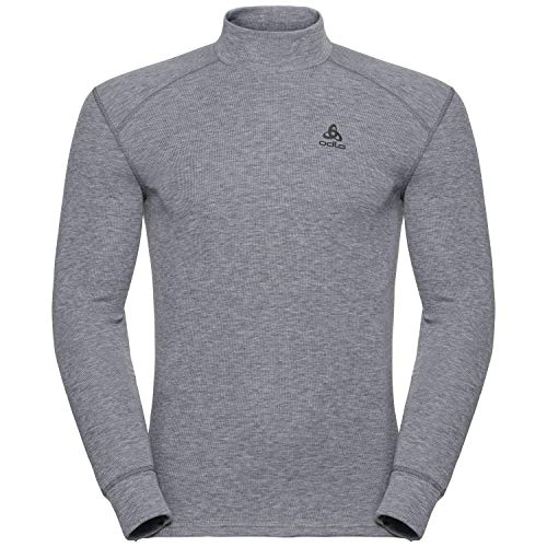 Odlo Herren BL TOP Turtle Neck l/s Active WARM Unterhemd, Grey Melange, L