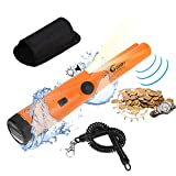 Gusto Coherence Fully Waterproof Pinpointing Metal Detector, Pro-Pointer at LED Flashlight (Orange)