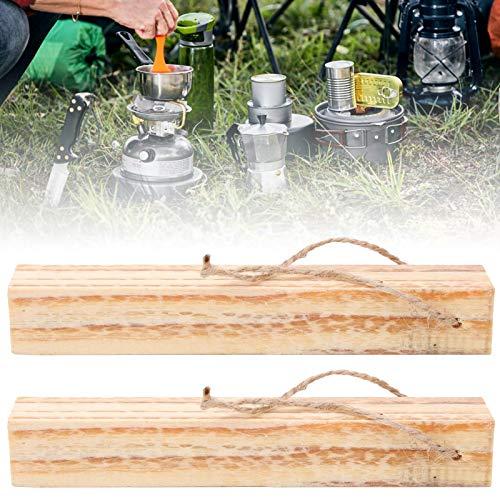 Zhjvihx Encendedor de Fuego Reutilizable, 2 Piezas/Juego de Troncos de leña, Camping y Cocina para Todos los hornos de Barbacoa, fosas y chimeneas Abiertas