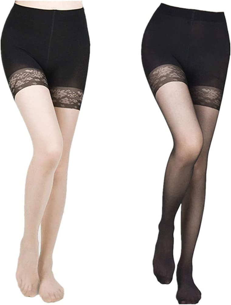 (2 Pairs) womens Semi-opaque Comfort Tights,panty stocking ,Thigh High Stockings Pantyhose 20 Denier