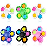 GOHEYI 6 Pack Pop Fidget Spinners, Push Bubble Fidget Spinner, Party Favor Sensory Simple Fidget Toys, Fidget Pack Hand Spinner for ADHD Anxiety,Stress Relief Sensory Toy for Kids Adults
