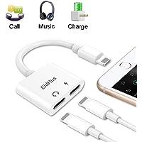 EldHus iPhone Adapter Spliter, Headphone Audio & Charge Connector