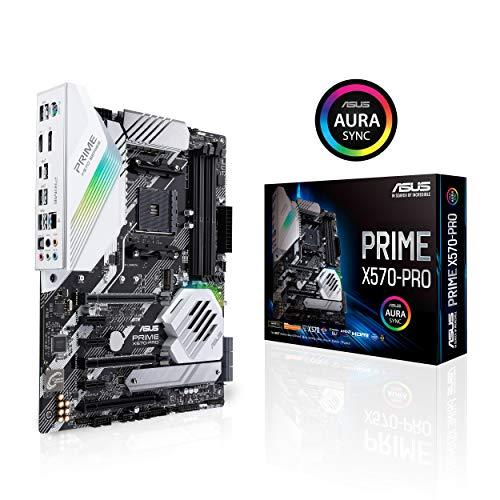 ASUS Prime X570-PRO Mainboard Sockel AM4 (Ryzen 3000 kompatibel, ATX-, PCIe 4.0, DDR4, USB 3.2, Aura Sync)